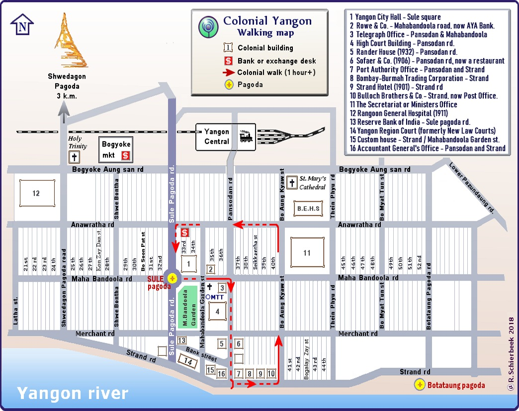 Yangon City Walking map