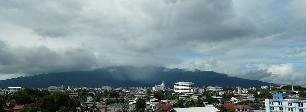 Panorama of Doi Suthep mountain