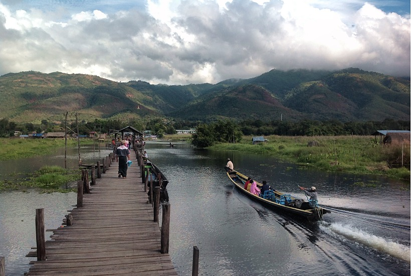 Inle Lake jetty, Maing Thauk