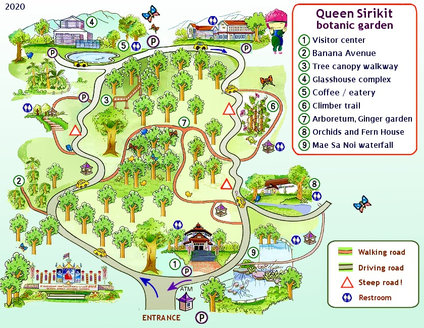 qsbg Botanical Garden map