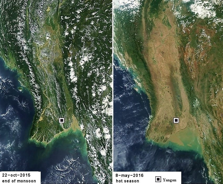 Satellite photo Myanmar
